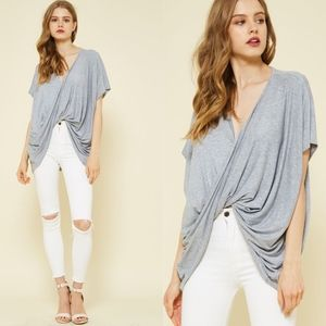 MORGAN Twist Front Top - GREY